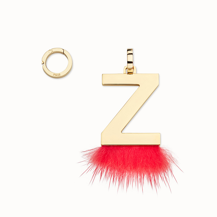 FENDI ABCLICK Z - Pendant with flame-red fur - view 1 detail