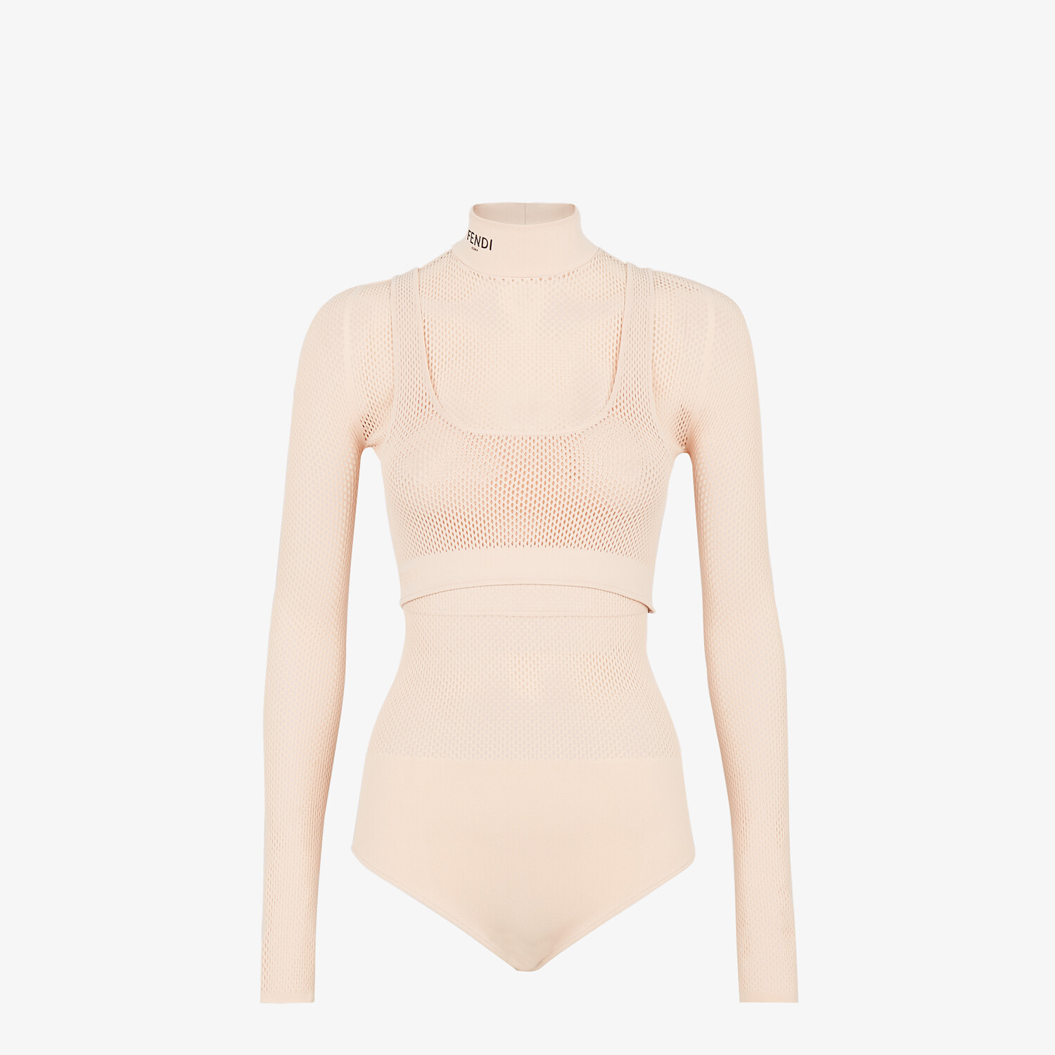 FENDI BODYSUIT - Pink mesh body - view 1 detail