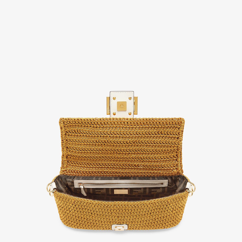FENDI BAGUETTE - Yellow cotton crochet bag - view 5 detail