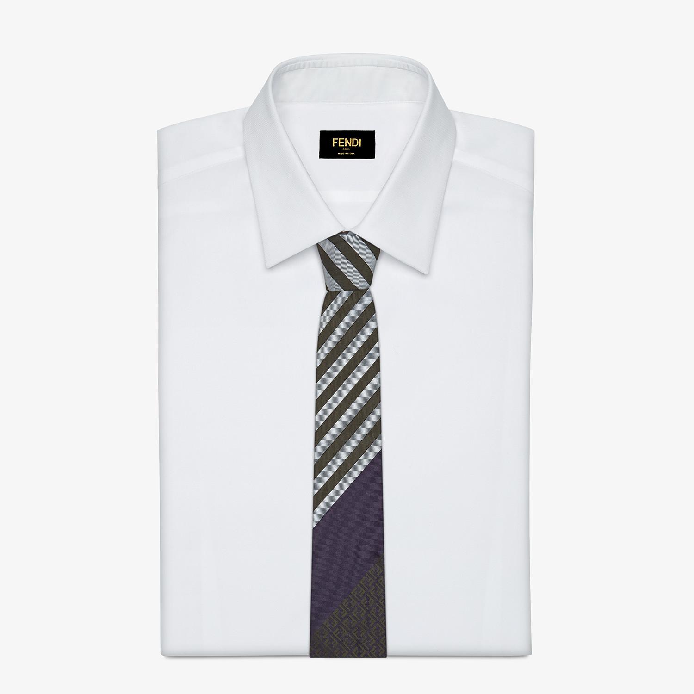 FENDI TIE - Multicolor silk tie - view 2 detail