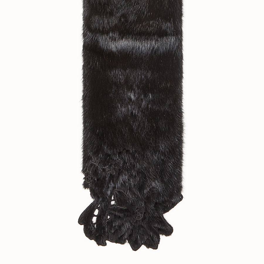 FENDI COLLAR - Black mink collar - view 2 detail