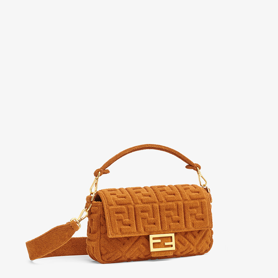 FENDI BAGUETTE - Brown terrycloth bag - view 2 detail