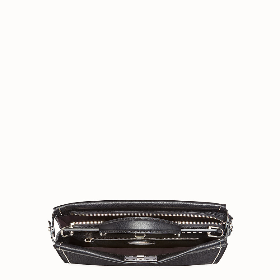 FENDI PEEKABOO FIT - Black leather Selleria bag - view 4 detail