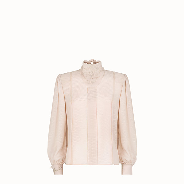 FENDI SHIRT - Pink cotton shirt - view 1 small thumbnail