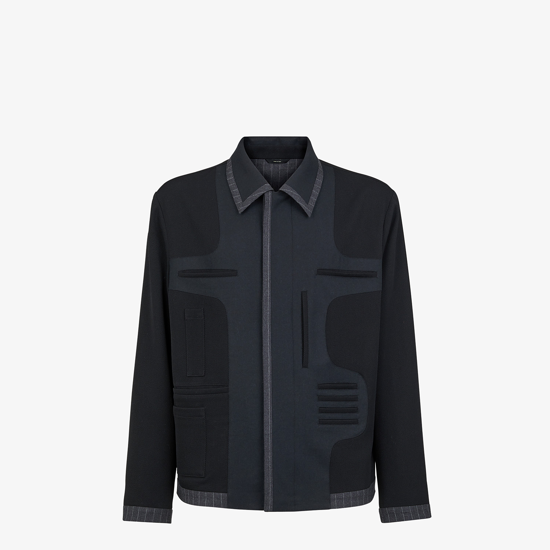 FENDI JACKET - Blue wool jacket - view 1 detail
