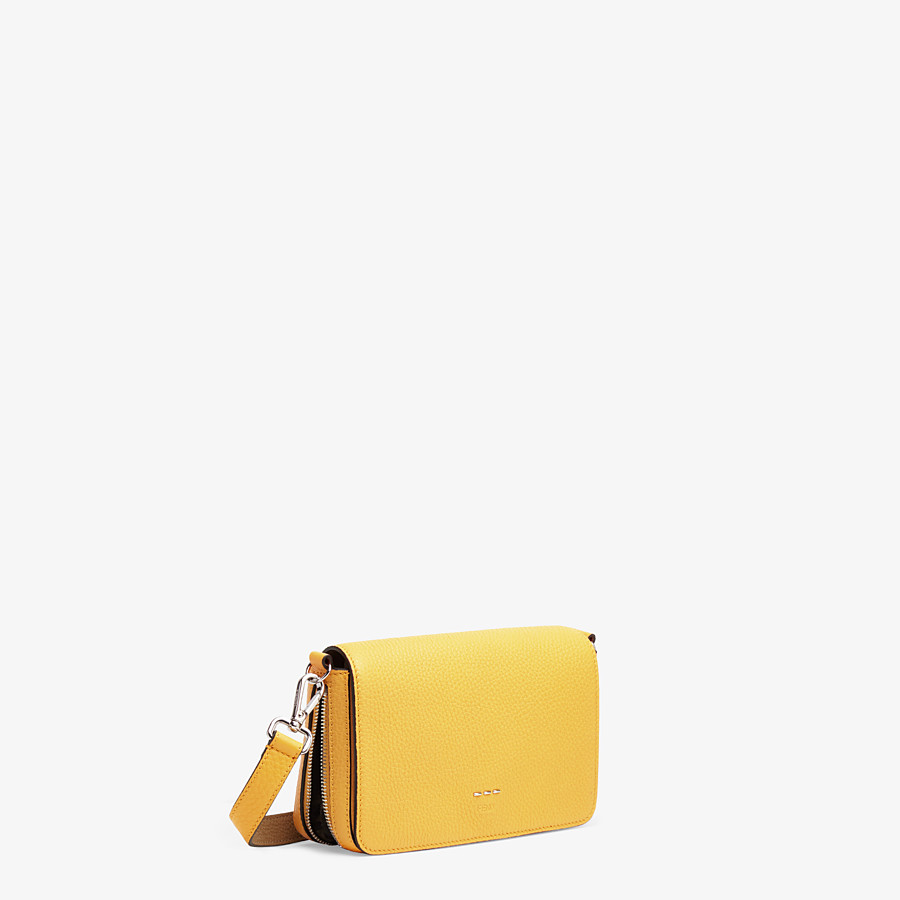 FENDI FLAP BAG - Yellow leather bag - view 3 detail