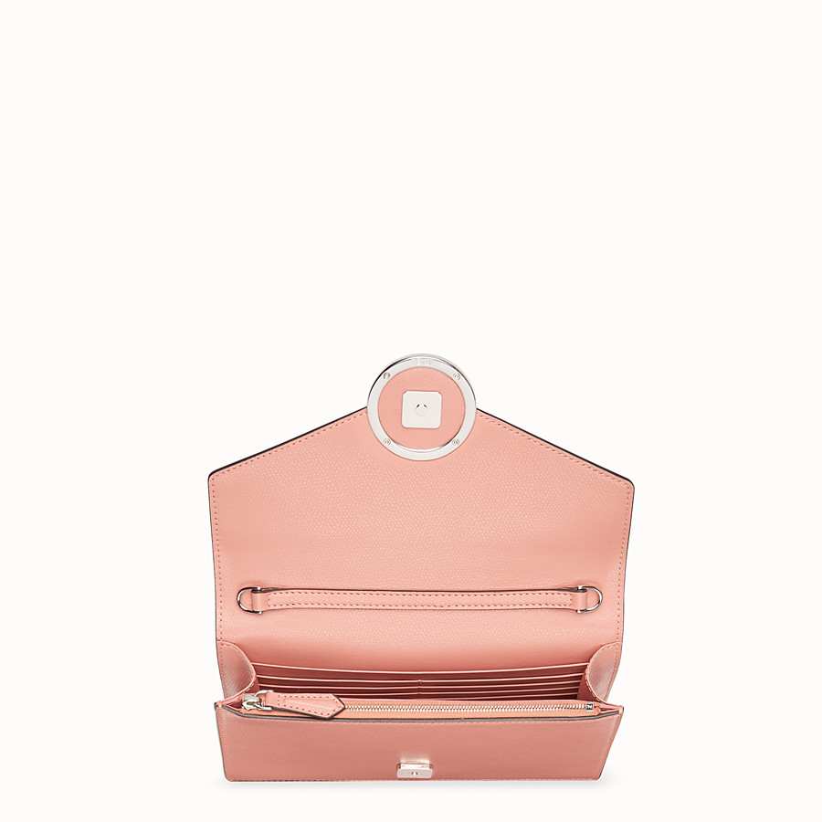 FENDI WALLET ON CHAIN - Pink leather mini-bag - view 5 detail