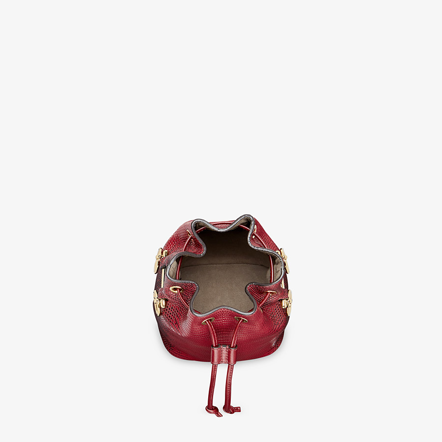 FENDI MON TRESOR - Red lizard skin mini-bag - view 4 detail