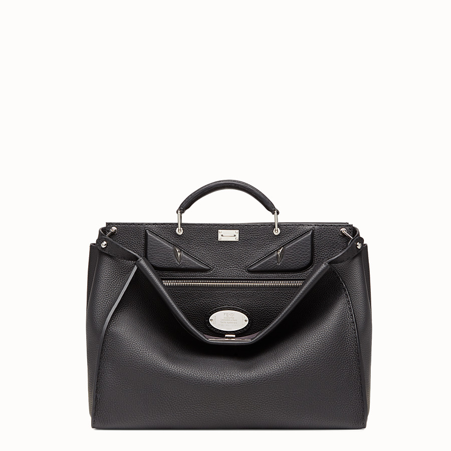 FENDI PEEKABOO REGULAR - in black Roman leather - view 1 detail