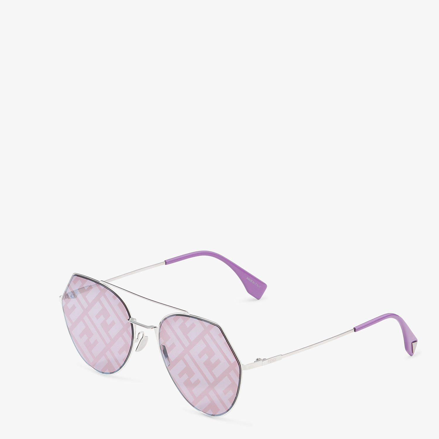 FENDI EYELINE - Palladium-colored sunglasses - view 2 detail