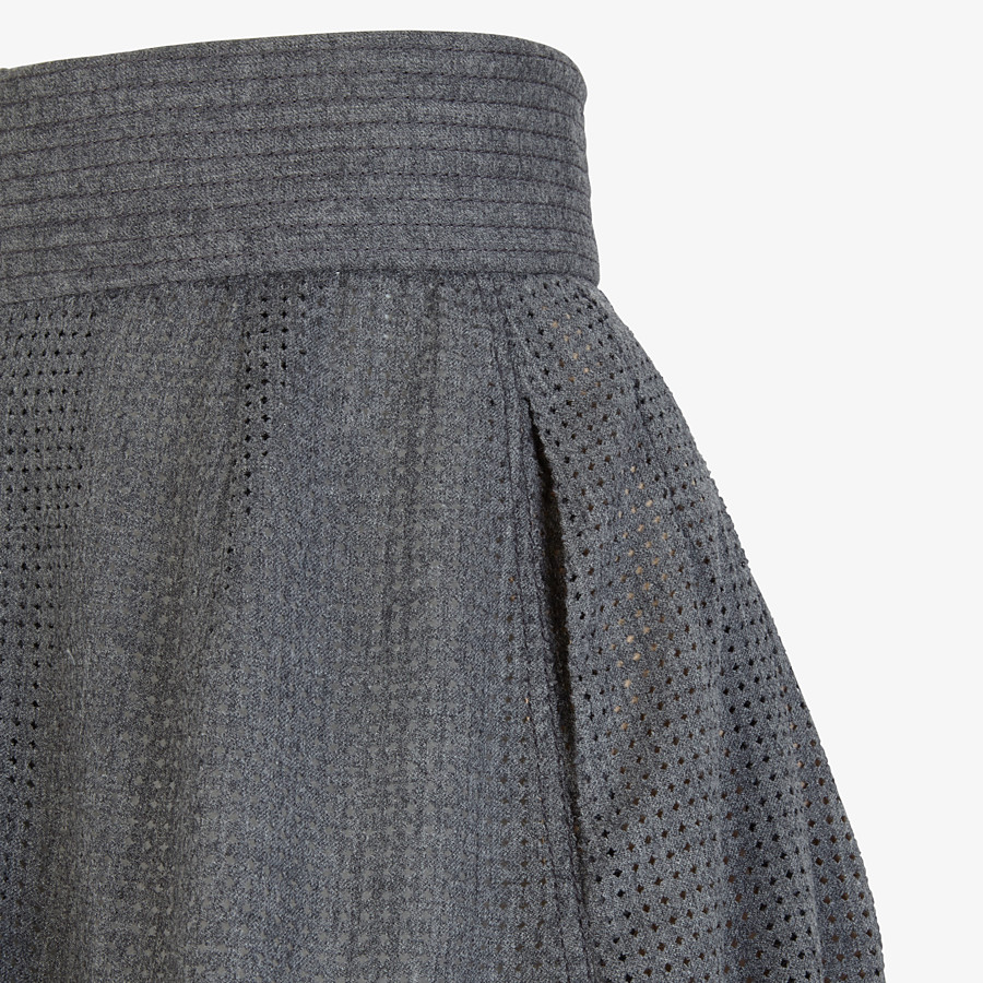FENDI SKIRT - Grey flannel skirt - view 3 detail