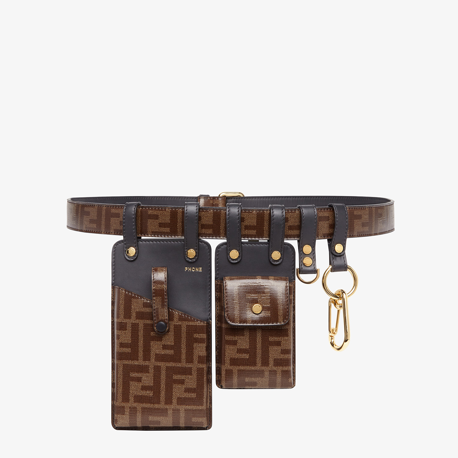 FENDI BELT - Brown fabric belt - view 1 detail