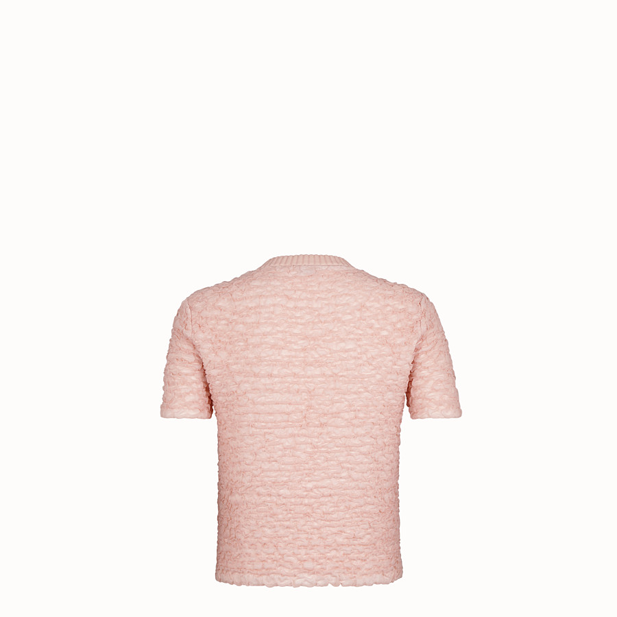 FENDI JUMPER - Pink viscose jumper - view 2 detail