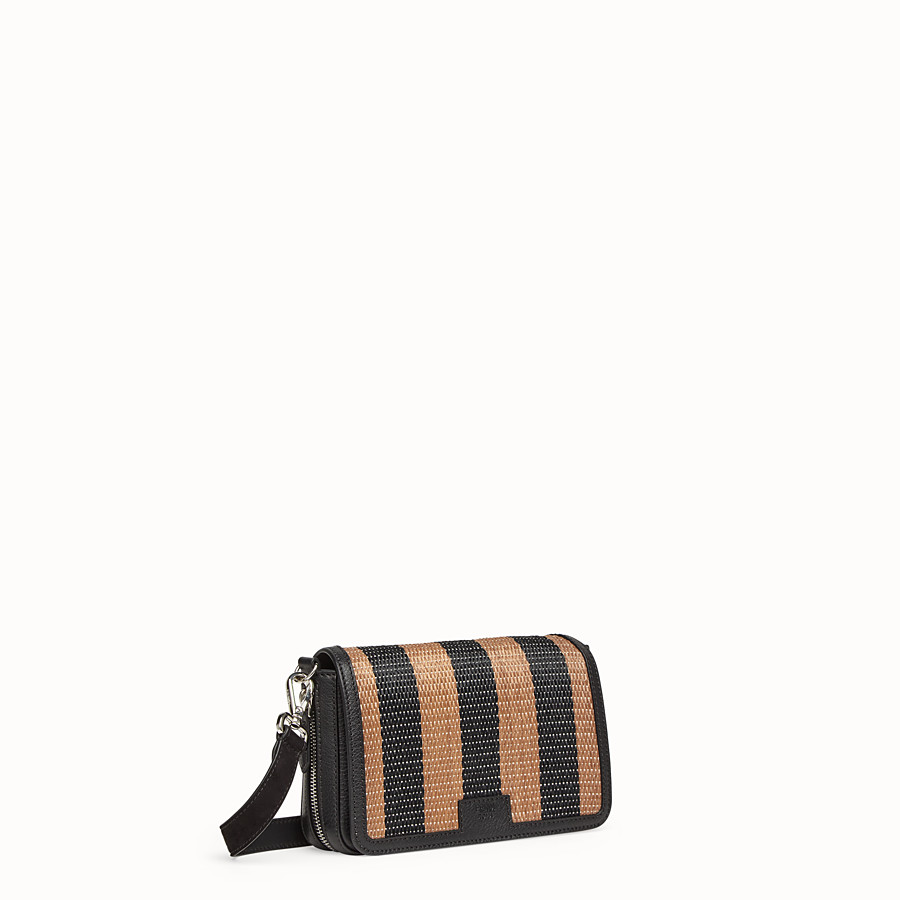 FENDI FLAP BAG - Borsa in rafia marrone - vista 2 dettaglio