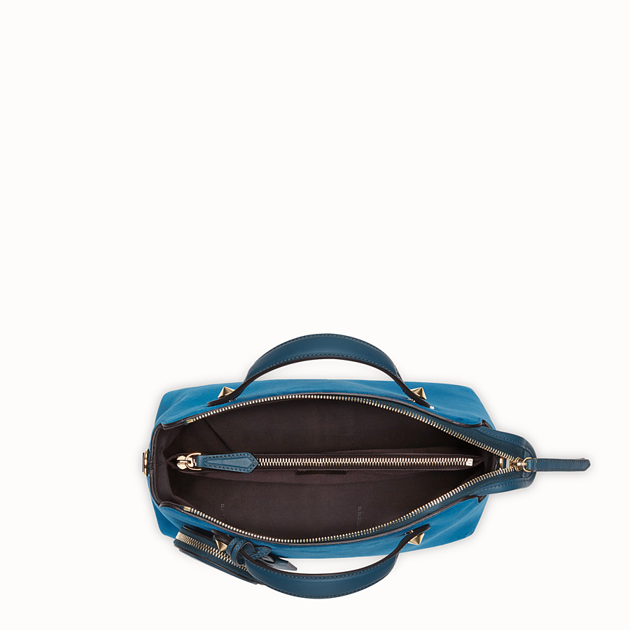 FENDI BY THE WAY MEDIUM - Blue suede Boston bag - view 4 detail