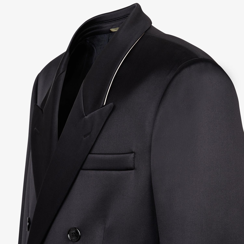 FENDI COAT - Black satin coat - view 3 detail