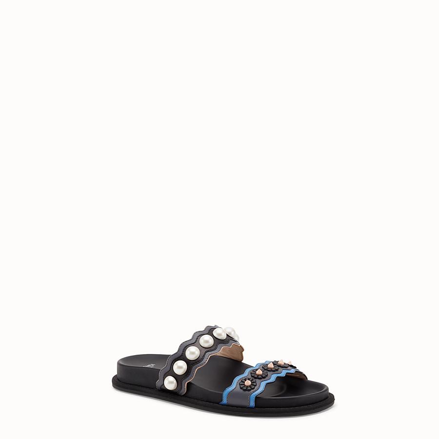 FENDI SANDALS - Multicolour leather sandals - view 2 detail
