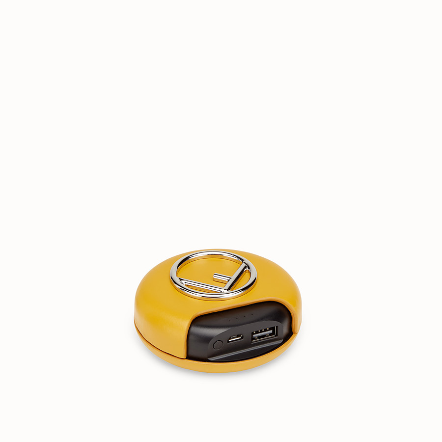 FENDI WIRELESS HEADPHONES - Yellow headphones and power bank - view 4 detail