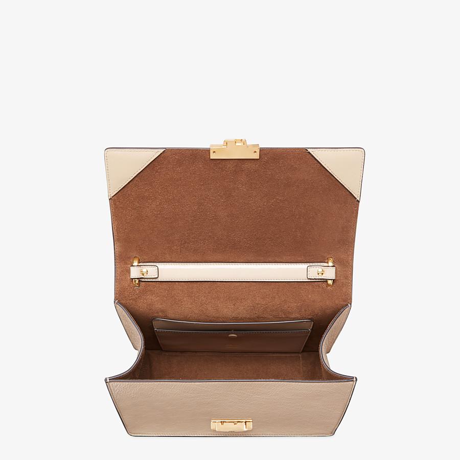 FENDI KAN U - Beige leather bag - view 5 detail