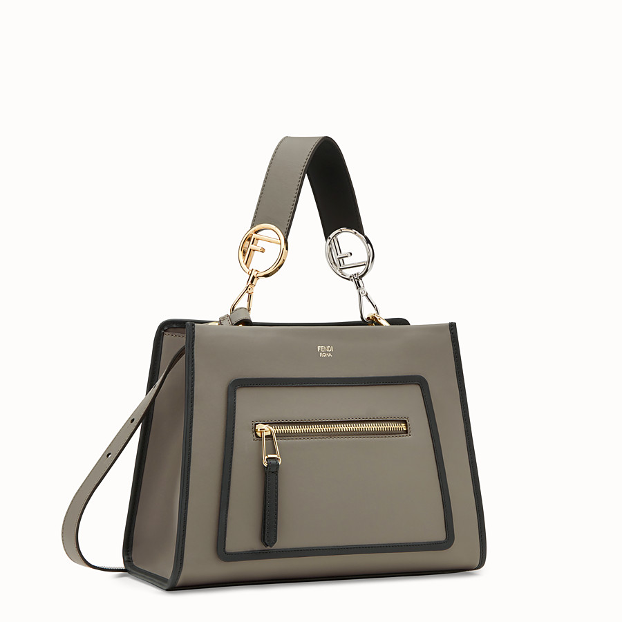 FENDI RUNAWAY SMALL - Grey leather bag - view 2 detail