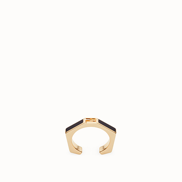 FENDI BAGUETTE RING - Ring Emailliert in Schwarz - view 1 small thumbnail