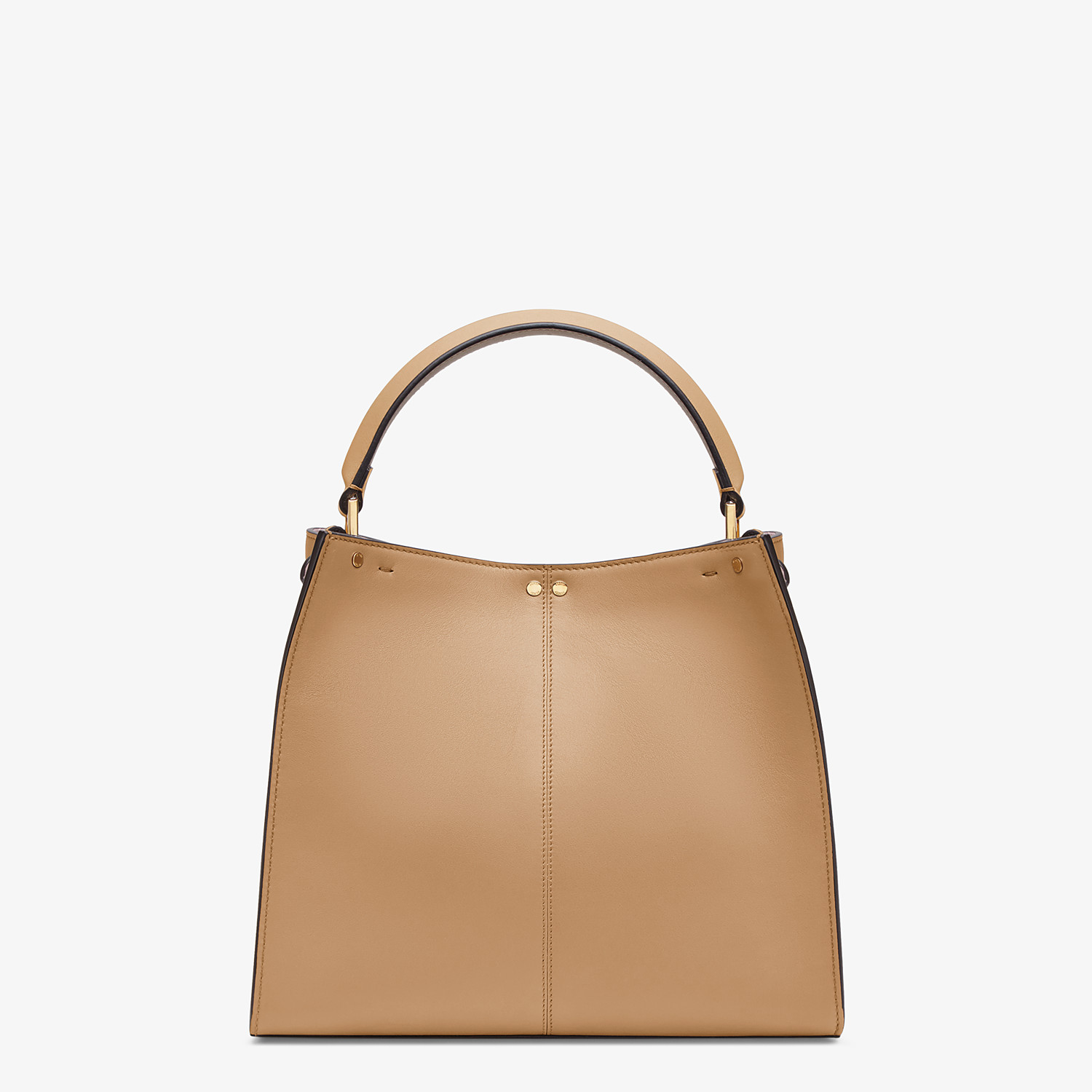 FENDI MEDIUM PEEKABOO X-LITE - Beige leather bag - view 5 detail