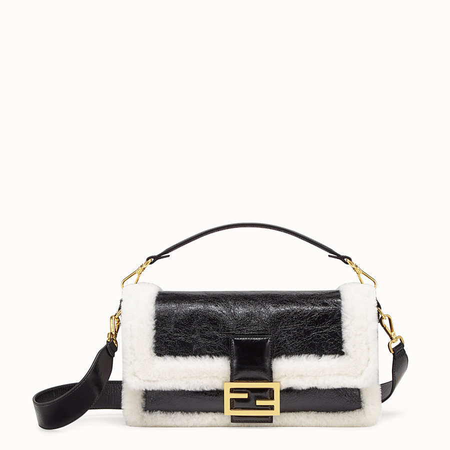 FENDI BAGUETTE LARGE - Black leather bag - view 1 detail