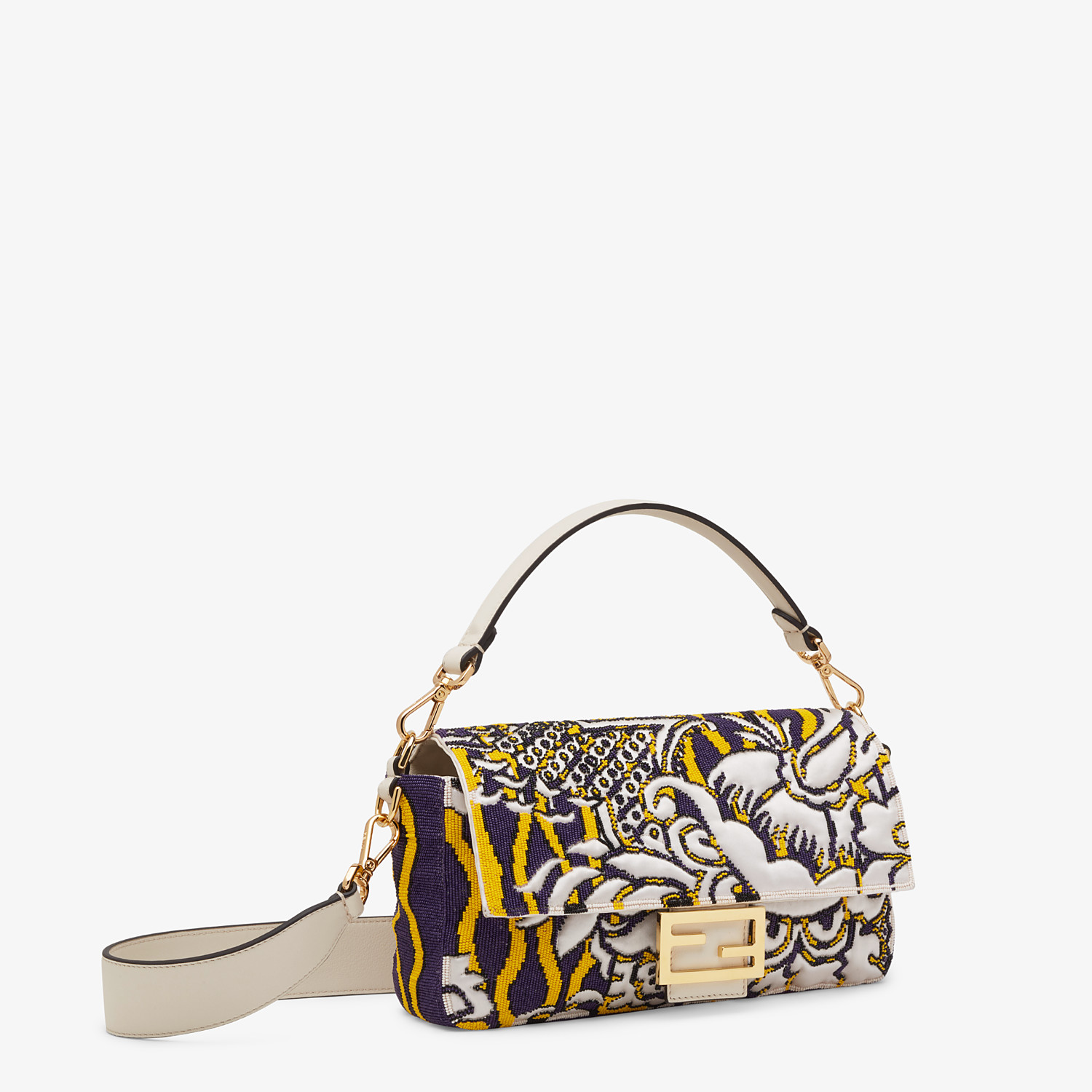 FENDI BAGUETTE - Bag with multicolor embroidery - view 2 detail
