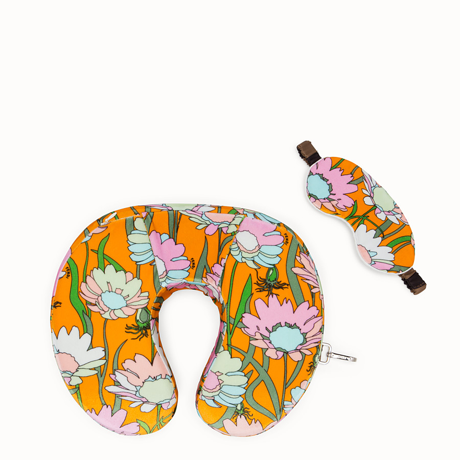 FENDI TRAVEL SET - Multicolour fabric cushion and mask - view 1 detail