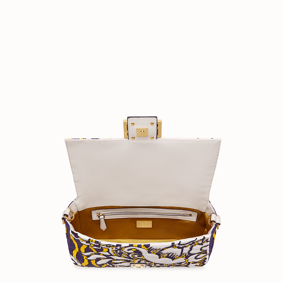 FENDI BAGUETTE - Bag with multicolour embroidery - view 5 detail