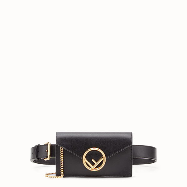 FENDI BELT BAG - Black leather belt bag - view 1 small thumbnail