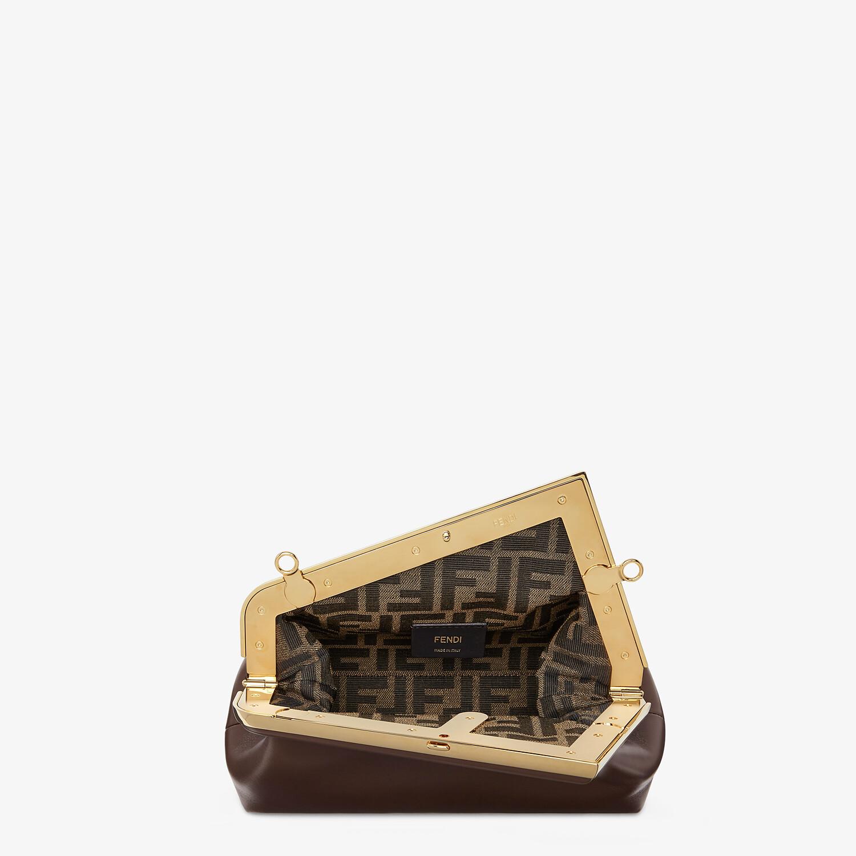FENDI FENDI FIRST SMALL - Dark brown leather bag - view 4 detail