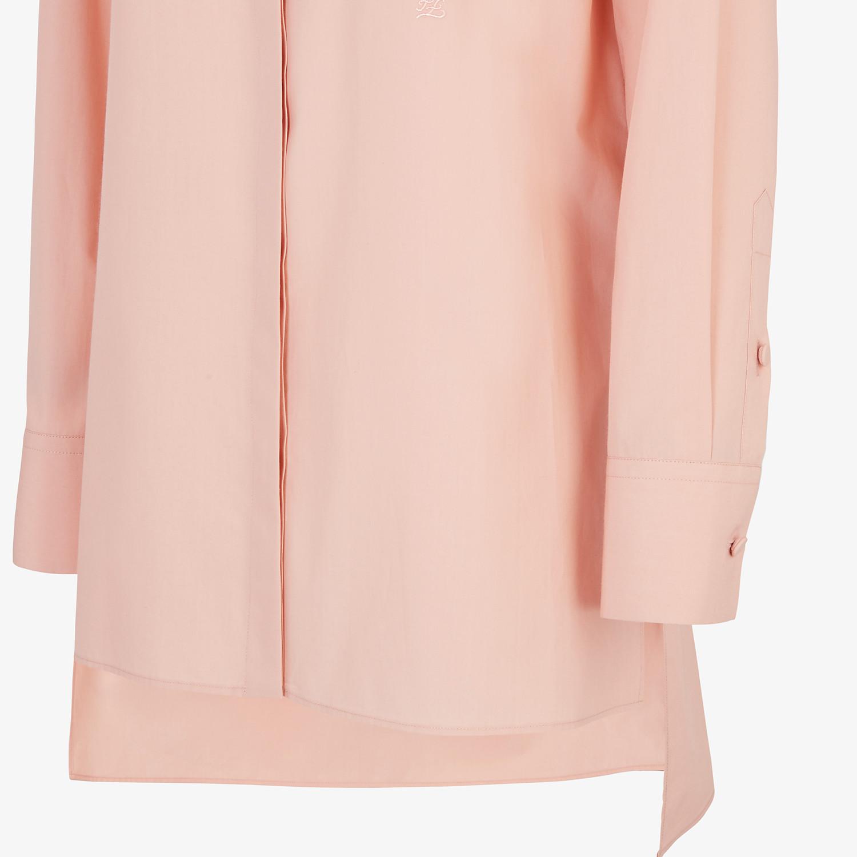 FENDI SHIRT - Pink cotton shirt - view 3 detail