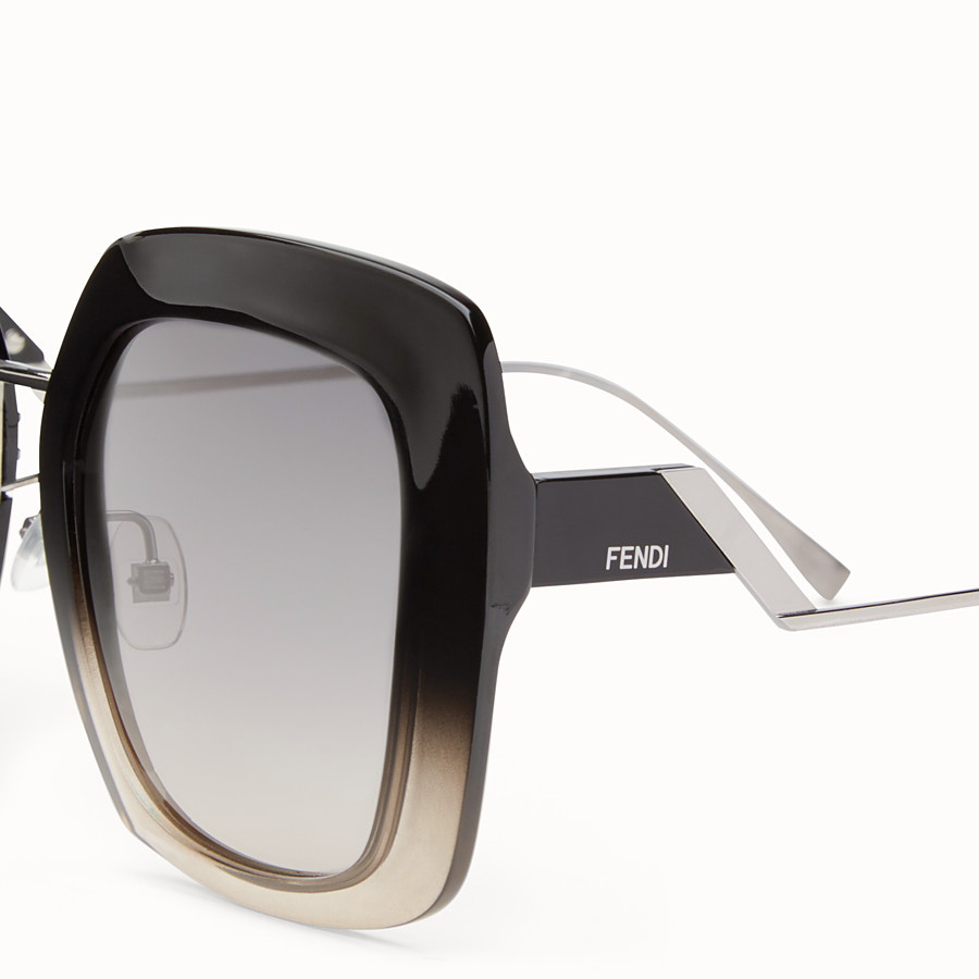 FENDI TROPICAL SHINE - Black and grey sunglasses - view 3 detail