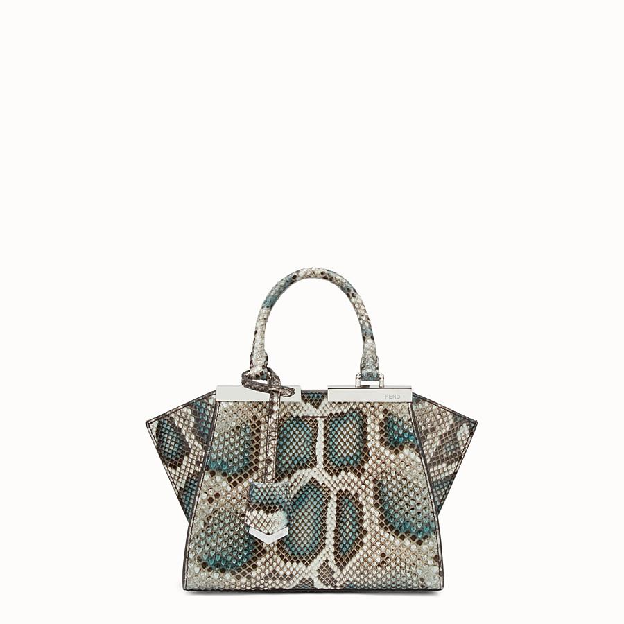 FENDI MINI 3JOURS - Python handbag in shades of green - view 1 detail