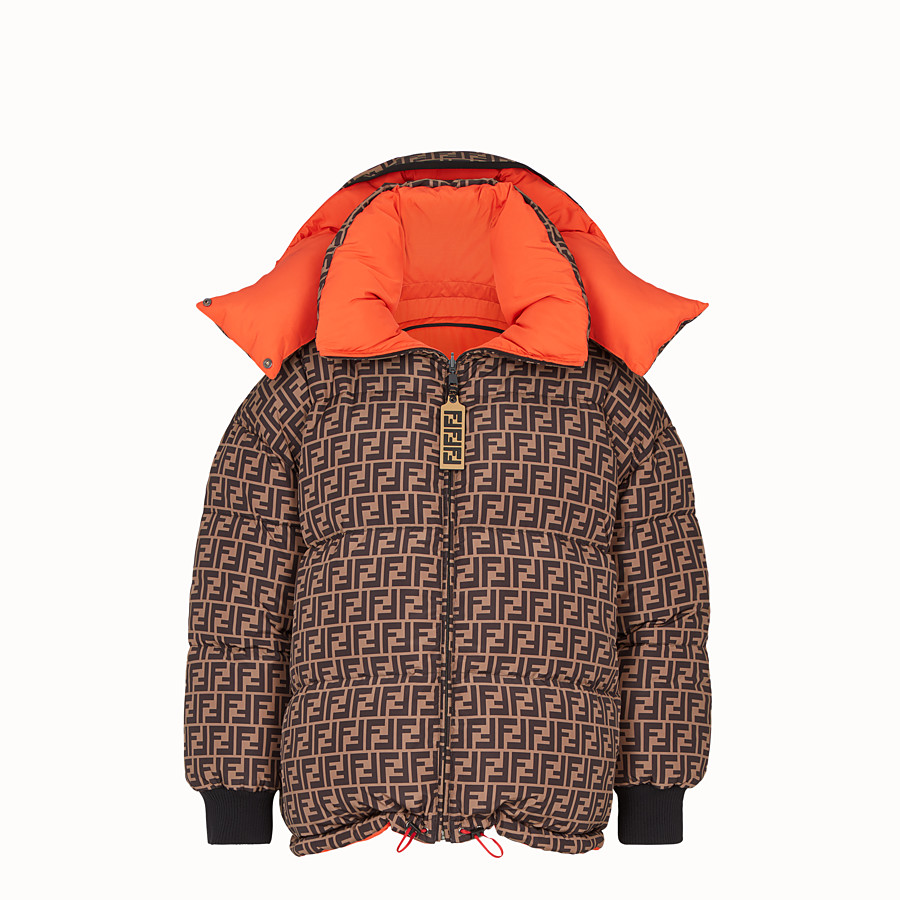 FENDI DOWN JACKET - Multicolour padded down jacket - view 1 detail