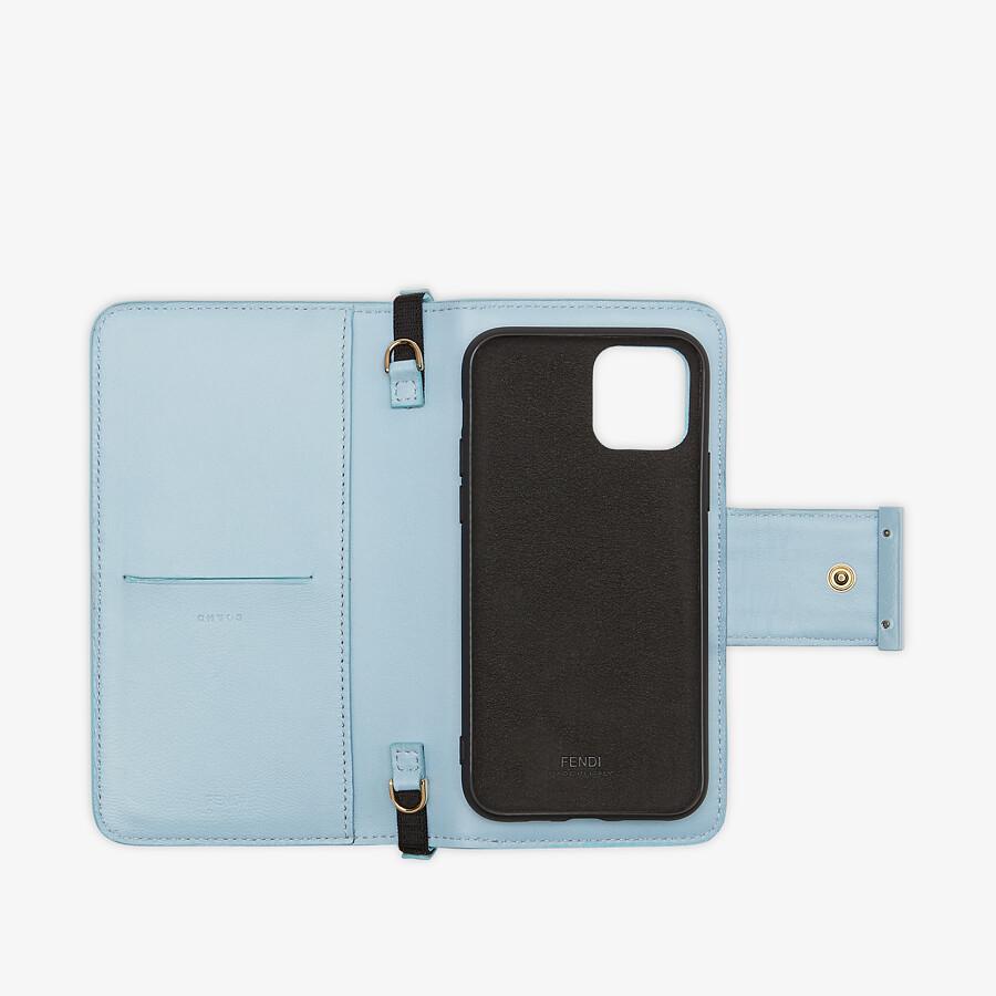 FENDI SMARTPHONE CASE - Light blue nappa leather case - view 3 detail