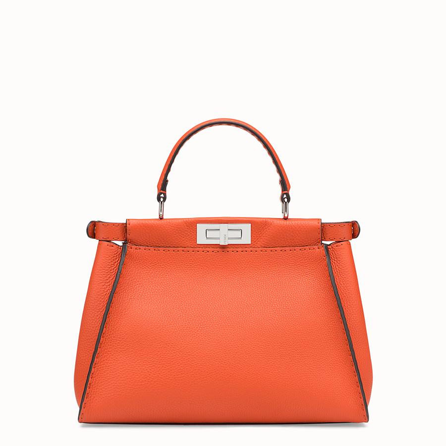 FENDI PEEKABOO REGULAR - Orange leather bag - view 3 detail