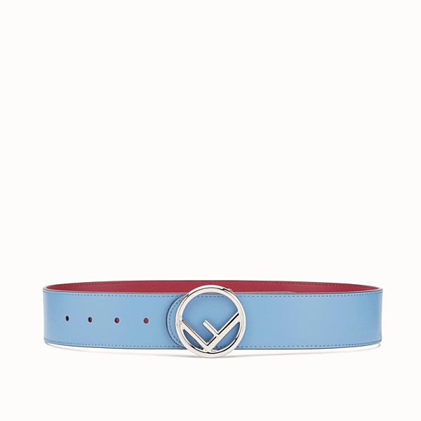 FENDI F IS FENDI BELT - Light blue leather belt - view 1 small thumbnail