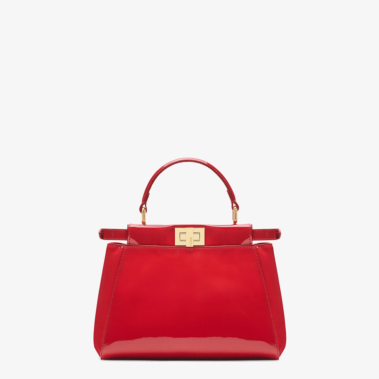 FENDI PEEKABOO ICONIC MINI - Red patent leather bag - view 4 detail