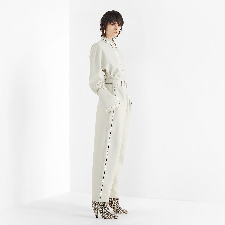 FENDI SHIRT - White nappa leather shirt - view 4 detail