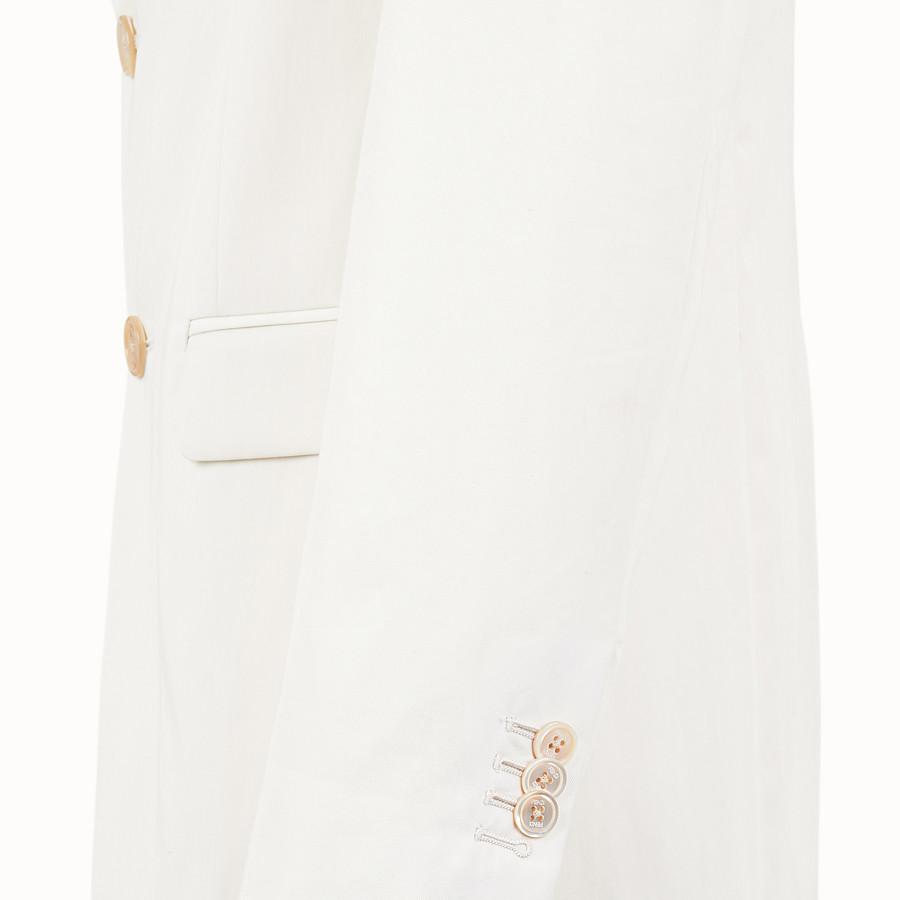 FENDI JACKET - White cotton blazer - view 3 detail