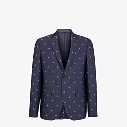 FENDI JACKET - Black wool, cotton and silk blazer - view 1 thumbnail