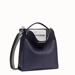 FENDI PEEKABOO X-LITE FIT - Blue Romano leather bag - view 3 thumbnail