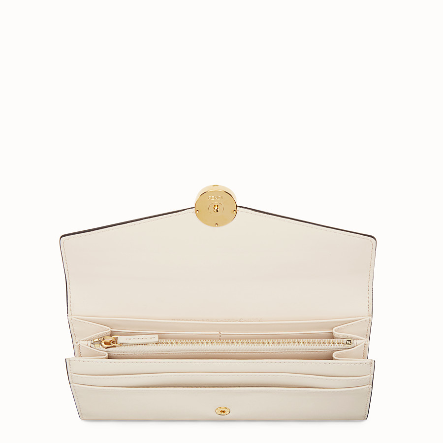 FENDI CONTINENTAL - White leather wallet - view 4 detail
