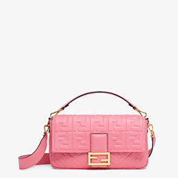 FENDI BAGUETTE LARGE - Pink leather bag - view 1 thumbnail