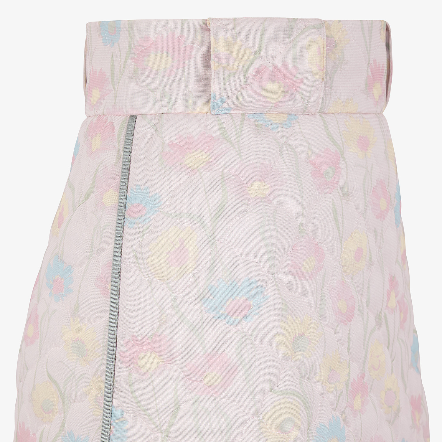 FENDI SKIRT - Pink quilted fabric skirt - view 3 detail