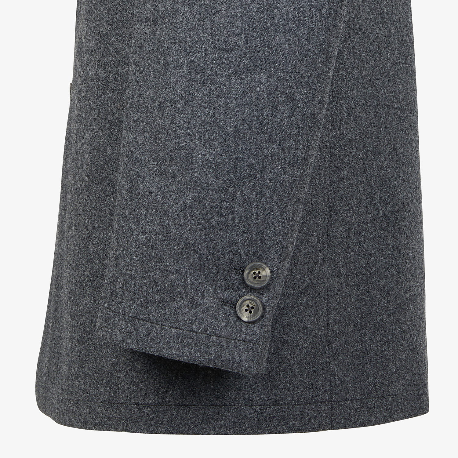 FENDI JACKET - Grey wool blazer - view 4 detail