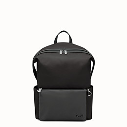 109d4ead2eac Black nylon and leather backpack - BACKPACK