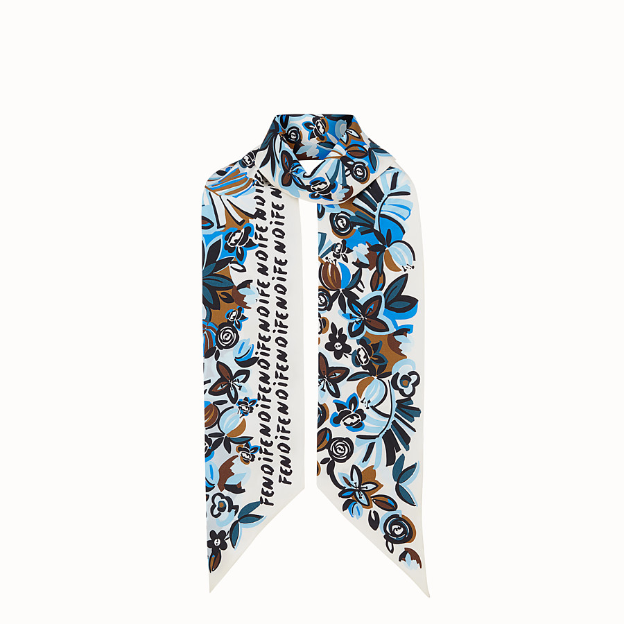 FENDI MAXI WRAPPY FLOWERS - Bandana de seda multicolor - view 1 detail
